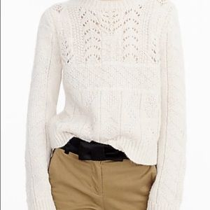 J. Crew Women's cable knit sweater NWT